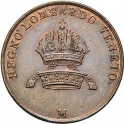Монета > 3чентезимо, 1839-1846 - Ломбардо-Венеційське  - obverse