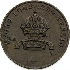 Монета > 5чентезимо, 1839-1846 - Ломбардо-Венеційське  - obverse