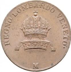 Монета > 3чентезимо, 1822-1834 - Ломбардо-Венеційське  - obverse