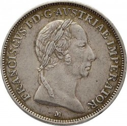Монета > 1ліра, 1822-1825 - Ломбардо-Венеційське  - obverse