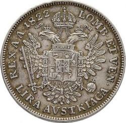 Монета > 1ліра, 1822-1825 - Ломбардо-Венеційське  - reverse