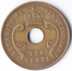 Moneda > 10cents, 1937-1945 - Àfrica Oriental Britànica  - obverse