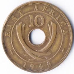 Moneda > 10cents, 1937-1945 - Àfrica Oriental Britànica  - reverse