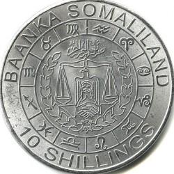 Moneta > 10szylingów, 2012 - Somaliland  (Znaki zodiaku - Skorpion /stal pokryta niklem/) - obverse