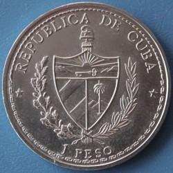 Moneda > 1peso, 1992 - Cuba  (500th Anniversary - Discovery of America, Guama) - obverse