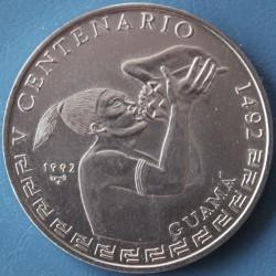 Moneda > 1peso, 1992 - Cuba  (500th Anniversary - Discovery of America, Guama) - reverse