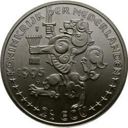 Moneda > 2½ECUs, 1995 - Països Baixos  (50è aniversari de l'Alliberament - Reina Guillermina) - obverse