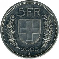Moneta > 5franków, 2003 - Szwajcaria  - reverse