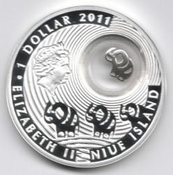 Moneta > 1dollaro, 2011 - Niue  (Buona fortuna) - obverse