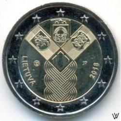 מטבע > 2אירו, 2018 - ליטא  (100th Anniversary - Baltic States) - obverse