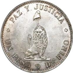 Moneta > 1pesas, 1889 - Paragvajus  - reverse