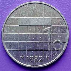 Монета > 1гульден, 1982-2001 - Нідерланди  - obverse