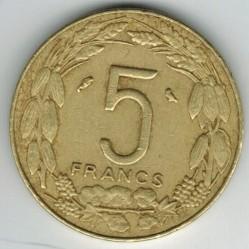 硬币 > 5法郎, 1965-1972 - 赤道非洲国家  - reverse