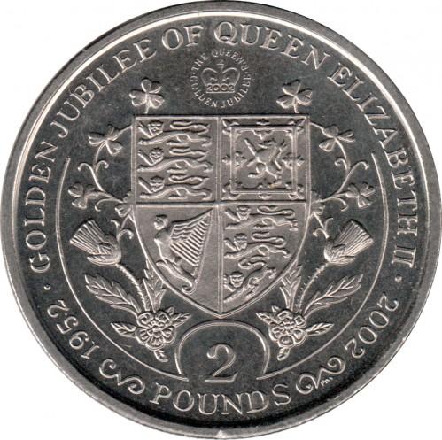 2 Pfund 2002 Reign Of Queen Elizabeth Ii Coat Of Arms Süd