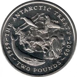 Minca > 2pounds, 2009 - Britské Antarktické Teritórium  (50th Anniversary - Antarctic Theaty) - reverse