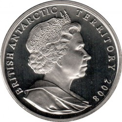 Pièce > 2livres, 2008 - Territoire antarctique britannique  (100e anniversaire - Octroi de lettres patentes) - obverse