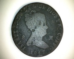 Münze > 8Maravedís, 1847 - Spanien  - obverse