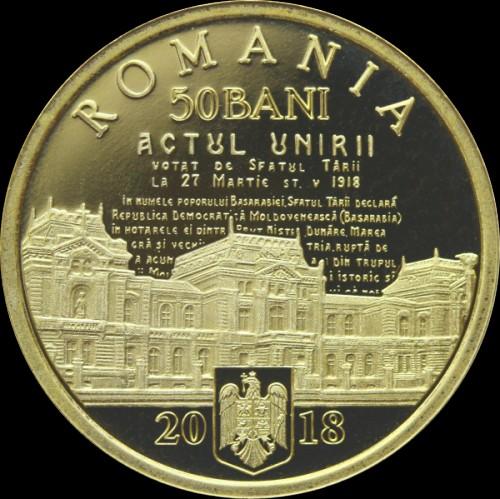 50 Bani 2018 Union Of Bessarabia With Romania Rumänien Münzen