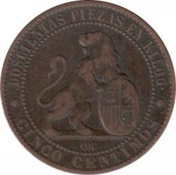 Монета > 5сентимо, 1870 - Испания  - reverse