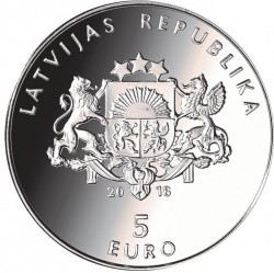 Moneda > 5 euros, 2018 - Letonia  (My Latvia) - reverse