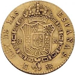 Moneta > 80reali, 1822-1823 - Hiszpania  - reverse
