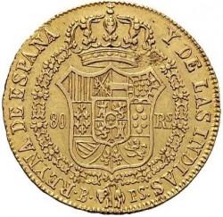 Moneta > 80reali, 1834-1836 - Hiszpania  - reverse