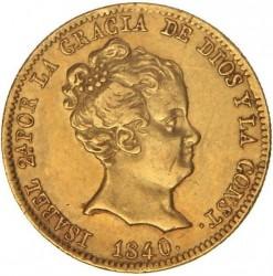 Moneta > 80reali, 1837-1849 - Hiszpania  - obverse