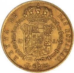 Moneta > 80reali, 1837-1849 - Hiszpania  - reverse