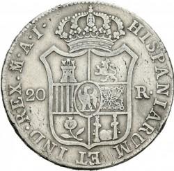 Moneta > 20reali, 1808-1813 - Hiszpania  - reverse