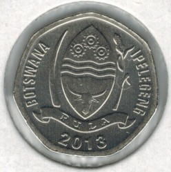 Moneda > 5thebe, 2013 - Botswana  - reverse
