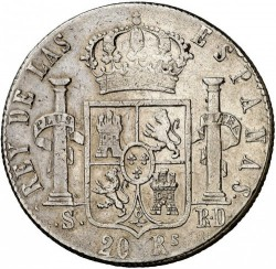 Moneta > 20reali, 1822-1823 - Hiszpania  - reverse