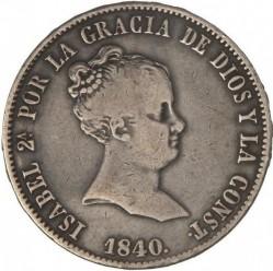 Moneta > 10reali, 1840-1845 - Hiszpania  - obverse