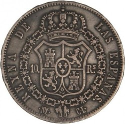 Moneta > 10reali, 1840-1845 - Hiszpania  - reverse