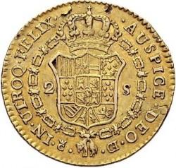 """Münze > 2Escudo, 1811 - Spanien  (Large portrait. 2 dot's after """"R"""") - reverse"""