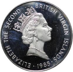 Moneda > 1dólar, 1985 - Islas Vírgenes Británicas  - obverse