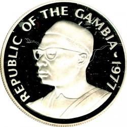 Монета > 20даласи, 1977 - Гамбия  (Wildlife Conservation - Spur-Winged Goose) - obverse