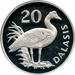 Монета > 20даласи, 1977 - Гамбия  (Wildlife Conservation - Spur-Winged Goose) - reverse