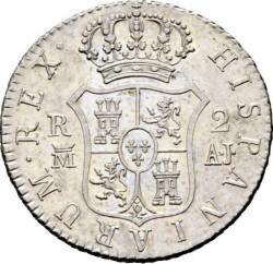 Moneta > 2reale, 1810-1833 - Hiszpania  - reverse