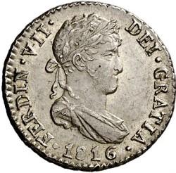 Moneta > ½reala, 1814-1833 - Hiszpania  - obverse