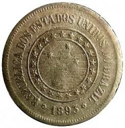Moneda > 100réis, 1889-1900 - Brasil  - obverse