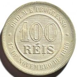 Moneda > 100réis, 1889-1900 - Brasil  - reverse