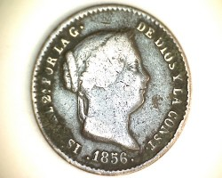 سکه > 5سنتیمو, 1854-1864 - اسپانیا  - obverse