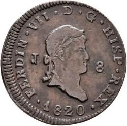 Монета > 8мараведи, 1817-1821 - Испания  (Small portrait) - obverse