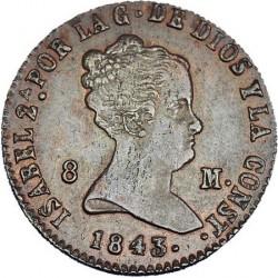 سکه > 8maravedis, 1836-1858 - اسپانیا  - obverse