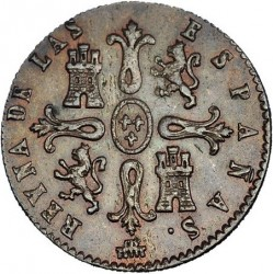 سکه > 8maravedis, 1836-1858 - اسپانیا  - reverse