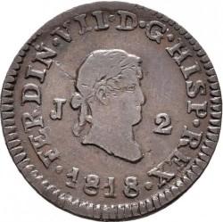 Münze > 2Maravedís, 1817-1821 - Spanien  - obverse