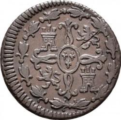 Münze > 2Maravedís, 1817-1821 - Spanien  - reverse