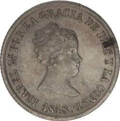 Moneta > 2reale, 1844-1851 - Hiszpania  - obverse
