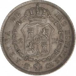 Moneta > 2reale, 1844-1851 - Hiszpania  - reverse