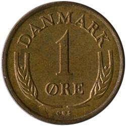 Münze > 1Öre, 1960-1964 - Dänemark   - reverse